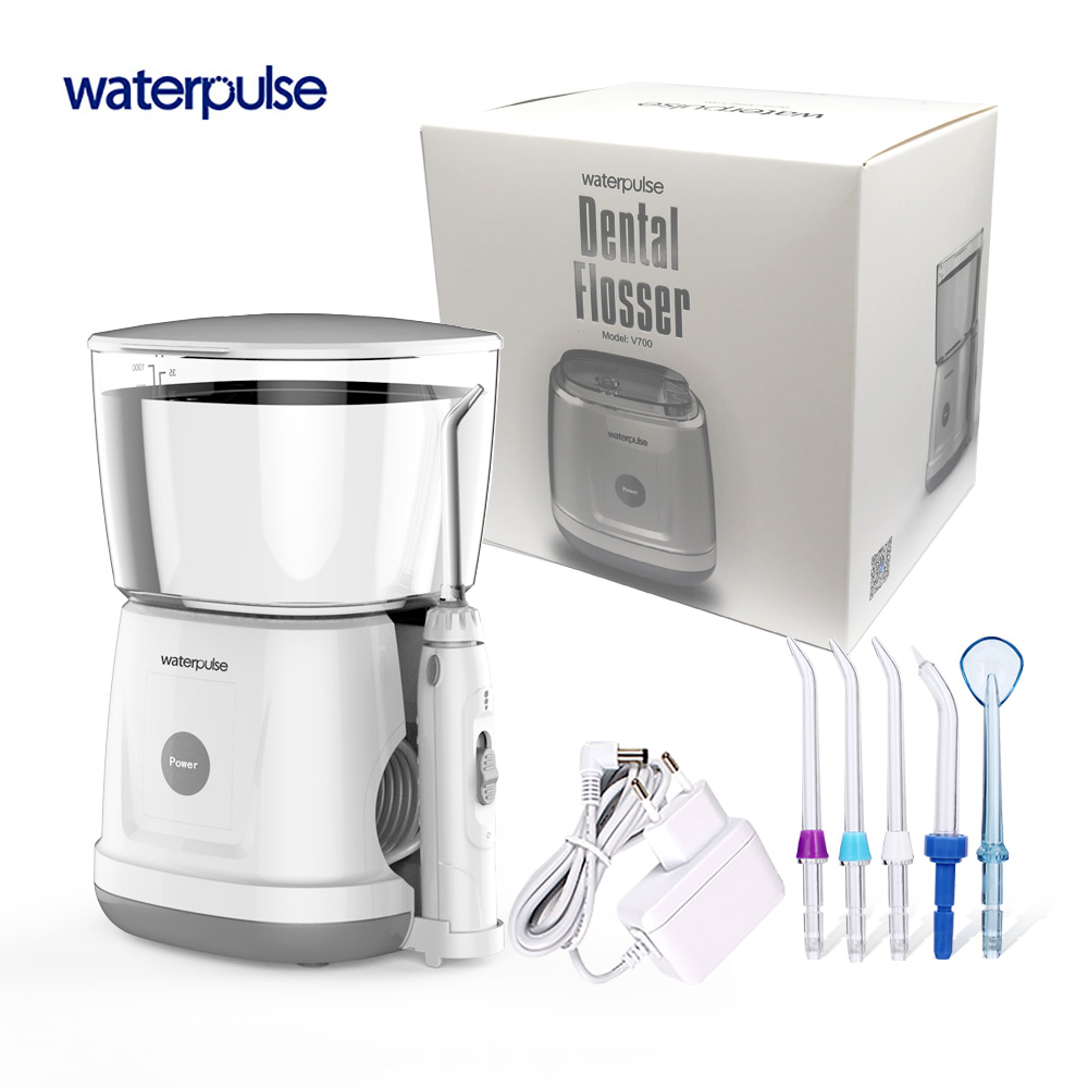 Waterpulse V700 Orale Flosser D'eau Portable Orrigator Dentaire Eau Flosser Oral Hygiene Water Oral Irrigation Avec housse de protection