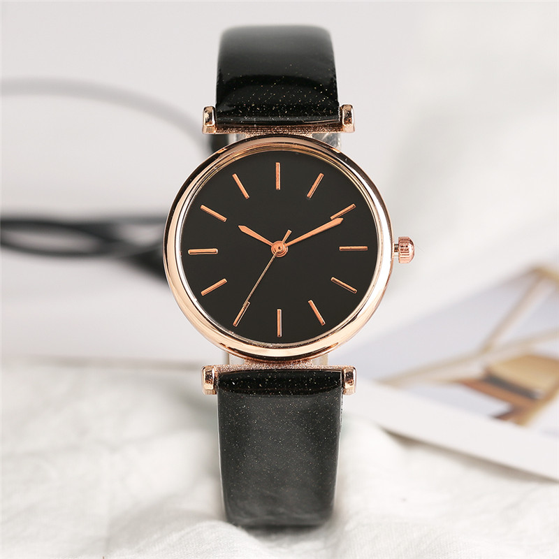 Fashion Elegant Women Quartz Wrist Watch PU Leather Stainless Steel Case Small Dial Black White Sister Watches Gifts kevin new fashion design women watches fashion black round dial pu leather band quartz wrist watch mens gifts relogios feminino