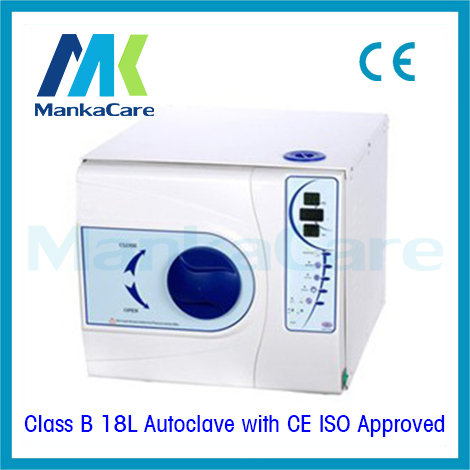 European Class B 18LITERS Disinfection Cabinet 3 Times Vacuum Steam Dental Medical Lab Autoclave Sterilizer WITHOUT PRINTER