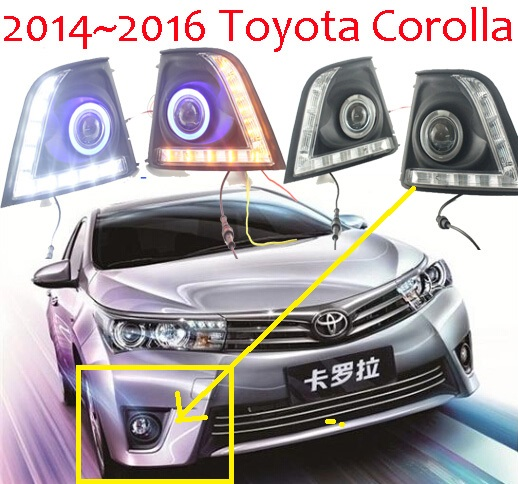 Corolla fog light LED,2014~2016;Free ship!Corolla daytime light,2ps/set+wire ON/OFF;optional:Halogen/HID XENON+Ballast,Corolla alto fog light 2014 2016 free ship alto daytime light 2ps set wire on off halogen hid xenon ballast alto