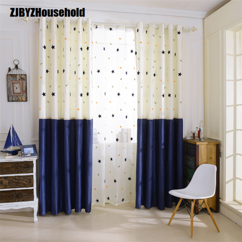 Finished Curtain Boys And Girls Custom Curtains For Living Dining Room Bedroom Balcony Window Curtain Mediterranean Style
