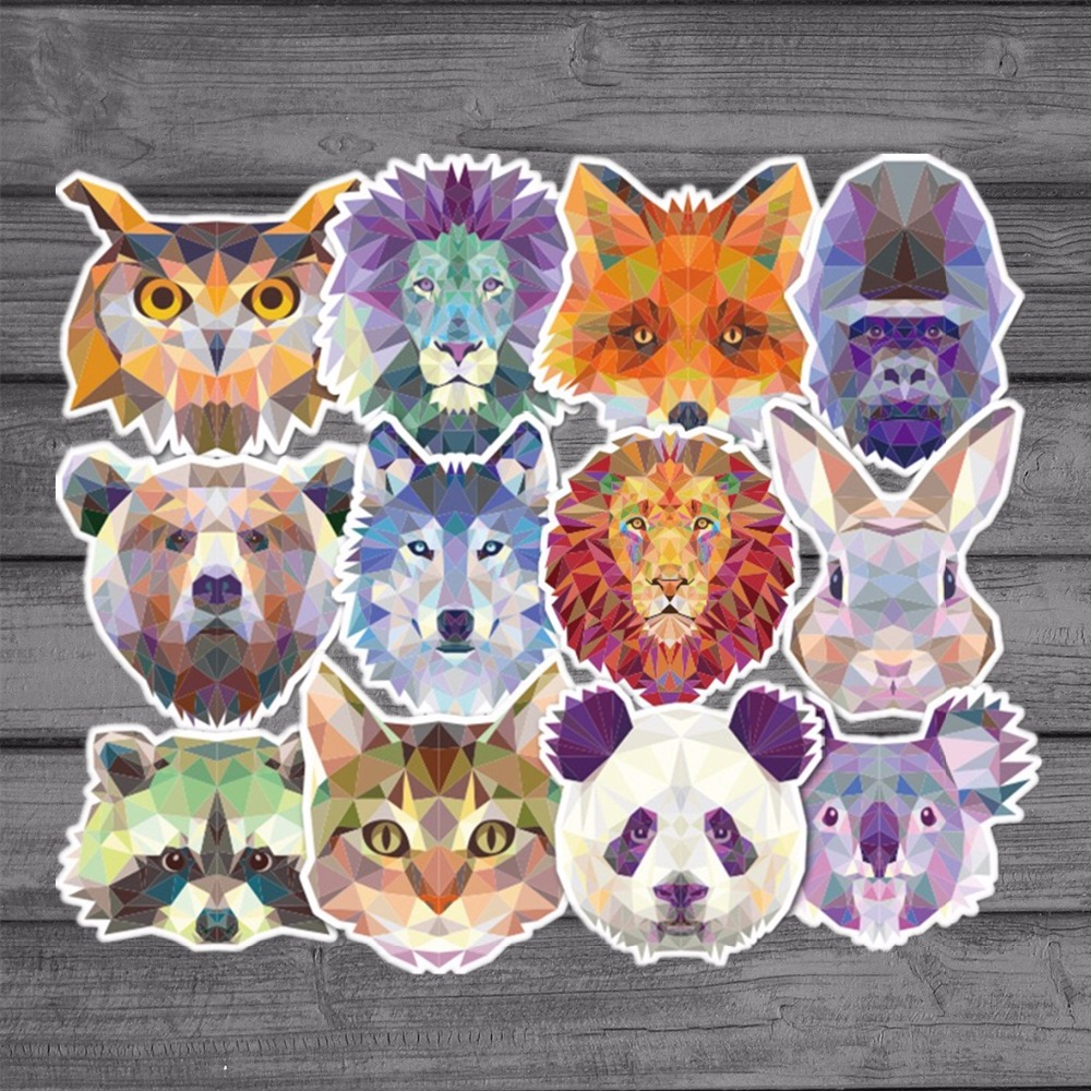 35Pcs/lot Waterproof Galaxy Animal funny Sticker Mixed Cartoon Graffiti Decals Luggage skateboard car fridge DIY Laptop Stickers