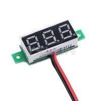 """5 шт./лот 0.28 """" желтый из светодиодов цифровой вольтметр постоянного тока 3.0 ~ 30 в напряжения монитор / тестер для двигателя / мотоцикл / автомобиль / и т . д"""