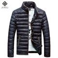 2016 Men Jacket Coat Parkas Outwear Trench Coat Men's Casual Fashion Slim Fit Winter Thickening Jacket Cotton Down Coat Parkas