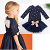 Summer Girls Clothing Sets Girl Navy Denim Dress Coat Belt Summer Children Clothes For Girls Light