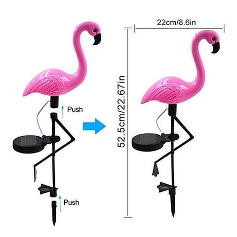 flamingo parque movido a energia solar jardim
