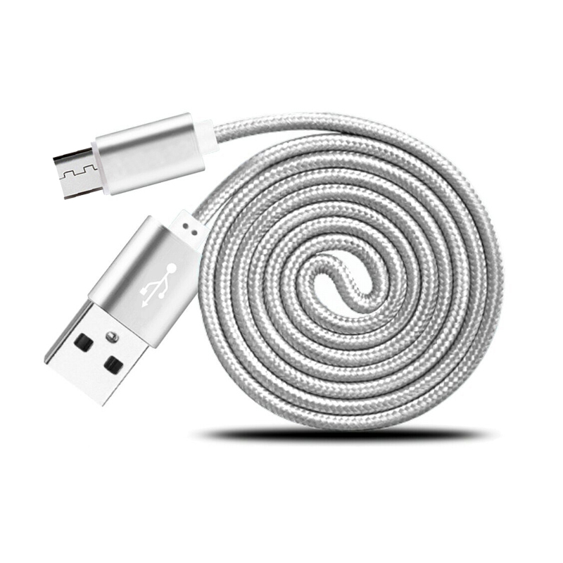 3FT Aluminum Nylon Micro USB Sync & Fast Charger Cable For