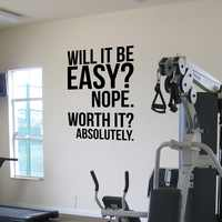 Absolutely.motivation office Quotes poster, Gym fitness Kettlebell Crossfit Boxing decor letters Wall Sticker decor,drop ship