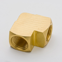 50PCS Brass Pipe Fitting 90 Degree Barstock Elbow 1/8 NPT Female Thread Plumb Water Gas Connector