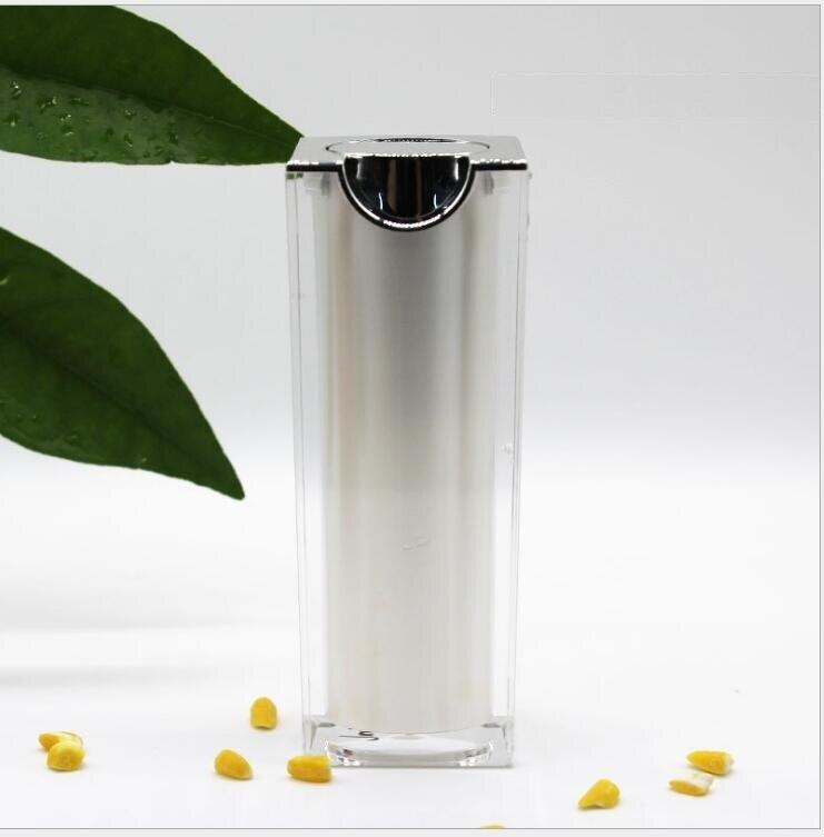 15 ML vierkante vorm witte plastic acryl airless fles voor lotion emulsie serum vloeibare foundation whitening essentie huidverzorging-in Hervulbare Flessen van Schoonheid op AliExpress - 11.11_Dubbel 11Vrijgezellendag 1