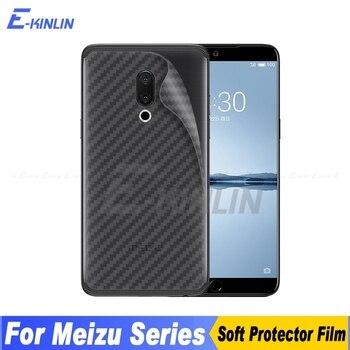 Перейти на Алиэкспресс и купить Задняя крышка из углеродного волокна, Защитная пленка для MeiZu X8 16Xs 17 16T 16S Pro 16th 15 Plus Lite, не закаленное стекло