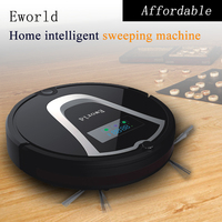 Eworld M884 Automatic Vacuum Robot Floor Cleaner For Hardwood Flooring Mini Automatic Robot Vacuum Black