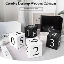 Креативный Настольный деревянный ручной календарь офисное украшение