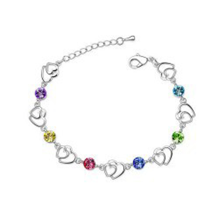 Wedding-Bracelet Crystal JEWELS Wholesaler Austrian Silver-Plated Fashion Heart