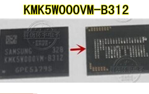 5 pçs/lote KMK5W000VM-B312 emmc
