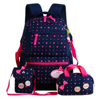 Children School Bags Teenagers Girls Printing Rucksack School Backpacks 3pcs Set Mochila Kids Travel Backpack Cute