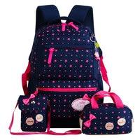 Children School Bags Teenagers Girls Printing Rucksack School Backpacks 3pcs Set Mochila Kids Travel Backpack Cute