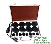 16pcs Lot Massage Stones Massage Lava Natural Energy Massage Stone Set Hot Spa Rock Basalt Stone