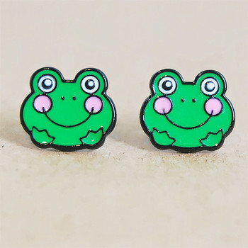 Сережки с милыми лягушками