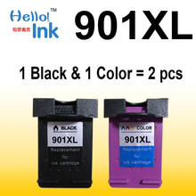2PCS Ink cartridge for HP 901 XL,for HP printer 4500 J4580 J4550 J4540 4500 Wireless J4680 J4524 J4535 J4585 J4624 J4660 HP901(China)
