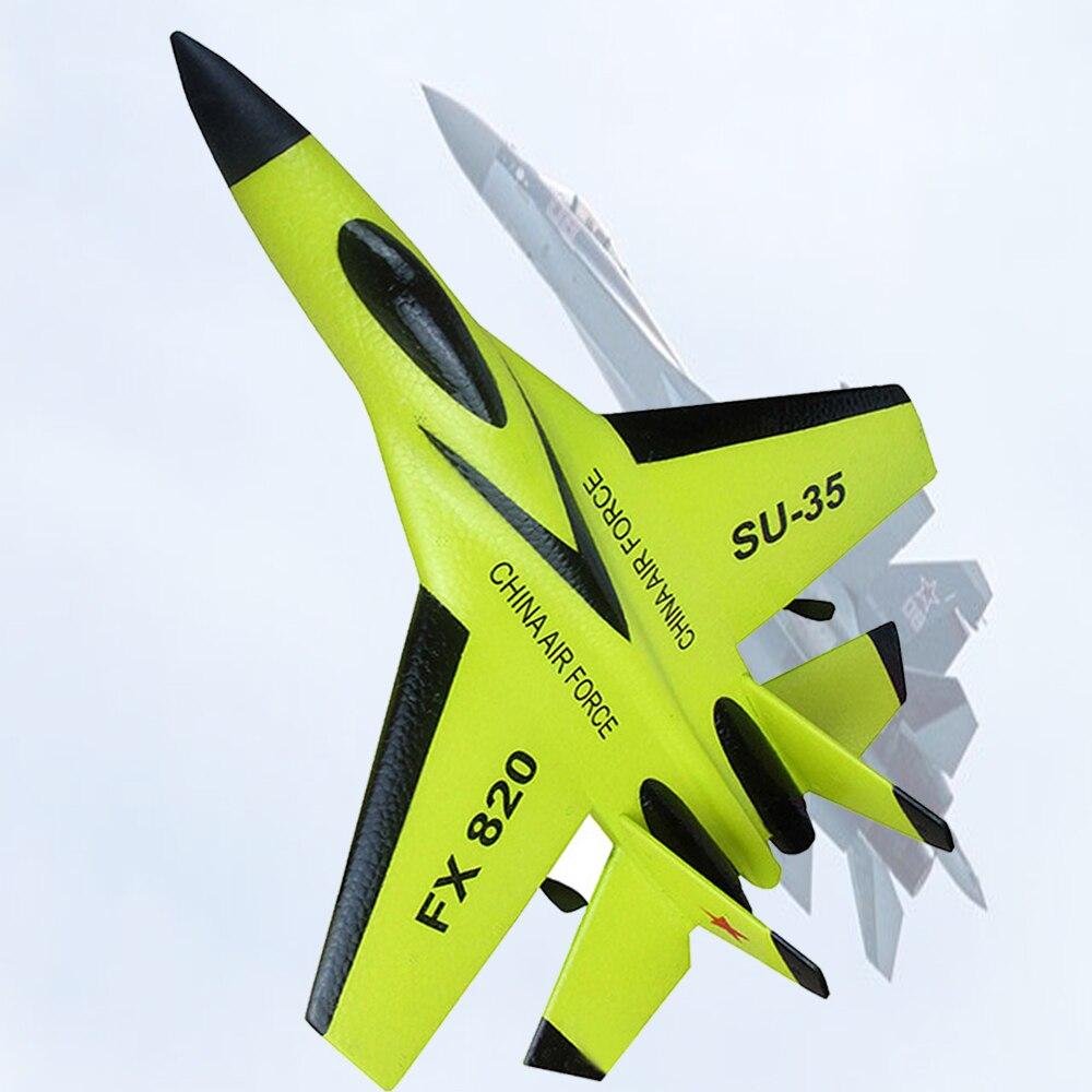 Avión RC juguetes de espuma EPP eléctrica de 2 CH al aire libre RTF Control remoto de Radio de SU-35 cola empujador Quadcopter planeador aviones modelo para niño