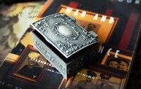 2 Шт./лот мини. классический сплав олова металлический контейнер в форме принцесса ювелирных изделий на память сувенир коробка случай карма...
