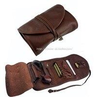 ZLOK эксклюзивный оригинальный Винтаж из натуральной яловой кожи трубы сумки (держать 2 шт.) курительная трубка Инструменты сумка ZLOK001 (только