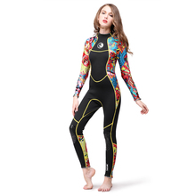 3mm Neoprene Diving Suit Full Body Women Wetsuit Swimming Surfing Jump Suit Surfacing Warm Wetsuit Water Sport Equipment цена