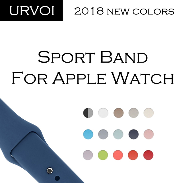 URVOI 2018New Sport band for Apple Watch series 4 3 2 1 Silicone wrist for iWatc