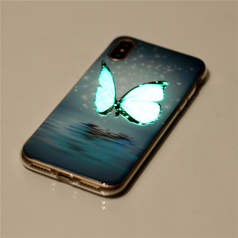 best website e97e1 fce4e US $1.99 20% OFF|For Apple iphone X Case For iphone X Cover luminous Glow  In The Dark Soft Silicone TPU Case Mobile Phone Protective Back Case-in ...
