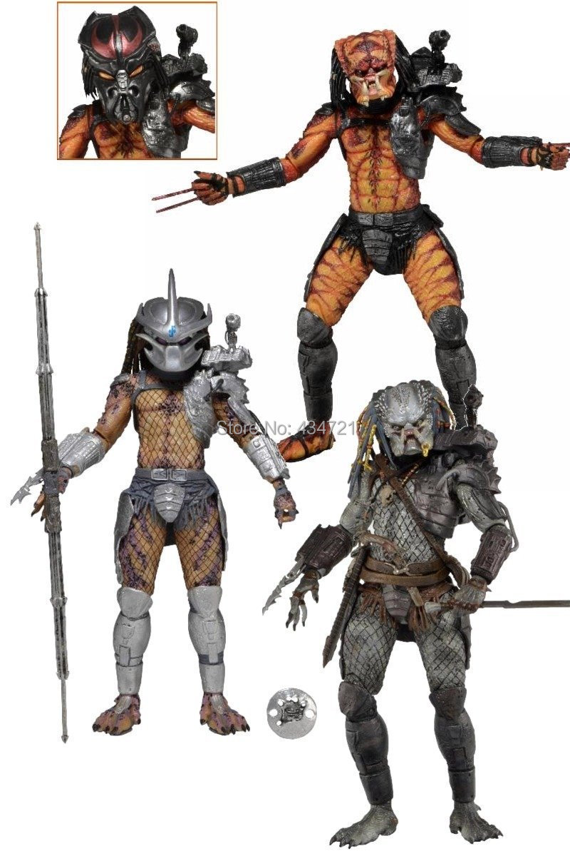 ФОТО Classic Sci-fi Movie Predators Enforcer The Ultimate Alien Hunter Elder V2 NECA Series 12 Action Figure 7
