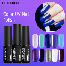 Huration Black Bottle 7ML Lucky Colour fluorescent Polish Gel Luminous Gel Nail Polish Art UV Semi Permanent Gel Varnish