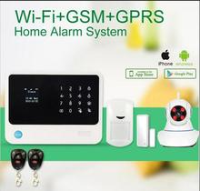 WiFi gsm alarm system work with  wifi IP camera Home Security Alarm System for smart home alarm system