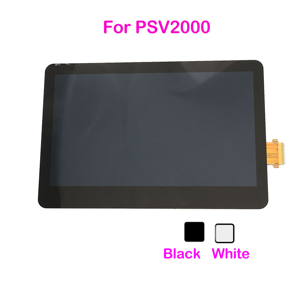 Black White Replacement For PS Vita 2000 LCD Display Screen Lens For PSV2000 LCD Screen