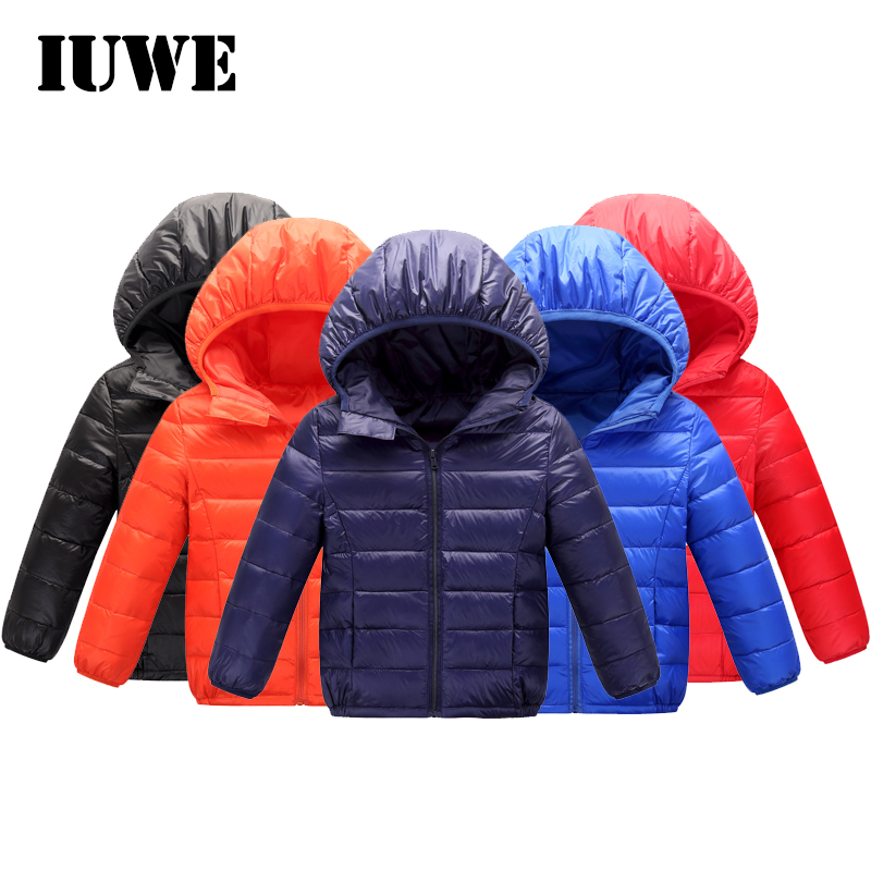 Jacket for Girls 12 Years Fall 2017 Teenagers Infant Boys Jacket Zipper Solid Waterproof Hooded Down Winter Kids Jacket Clothes