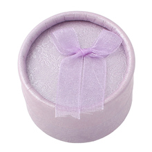 Free shipping 24 pcs 53x36mm purple Velveteen Cardboard Ring Box Jewelry Accessories Carrying Cases for Wedding Ring Boxes women
