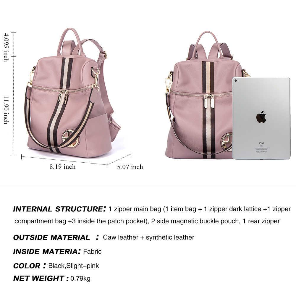 BOSTANTEN женские рюкзаки из натуральной кожи рюкзак женская школьная сумка розовая полоса многофункциональный кожаный рюкзак на плечо