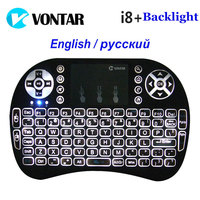 VONTAR Backlight I8 English Version Mini Wireless Keyboard 2 4GHz Air Mouse Gaming Handheld Touchpad For