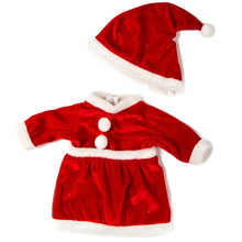 Christmas Gift Red Christmas Dress Suit Fit For 43cm Doll Accessories For Baby Doll Clothes Or Crystal Shoes(China)