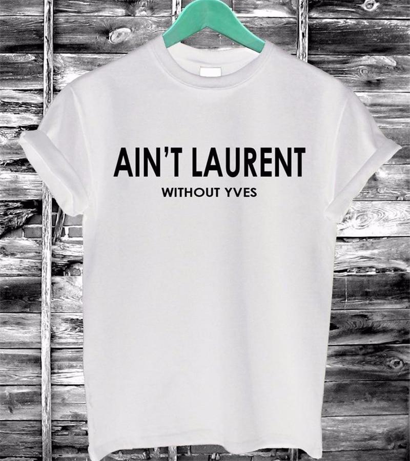 Mujeres Camiseta de Verano HAY ZA Cartas de Impresión de Algodón Casual Funny T