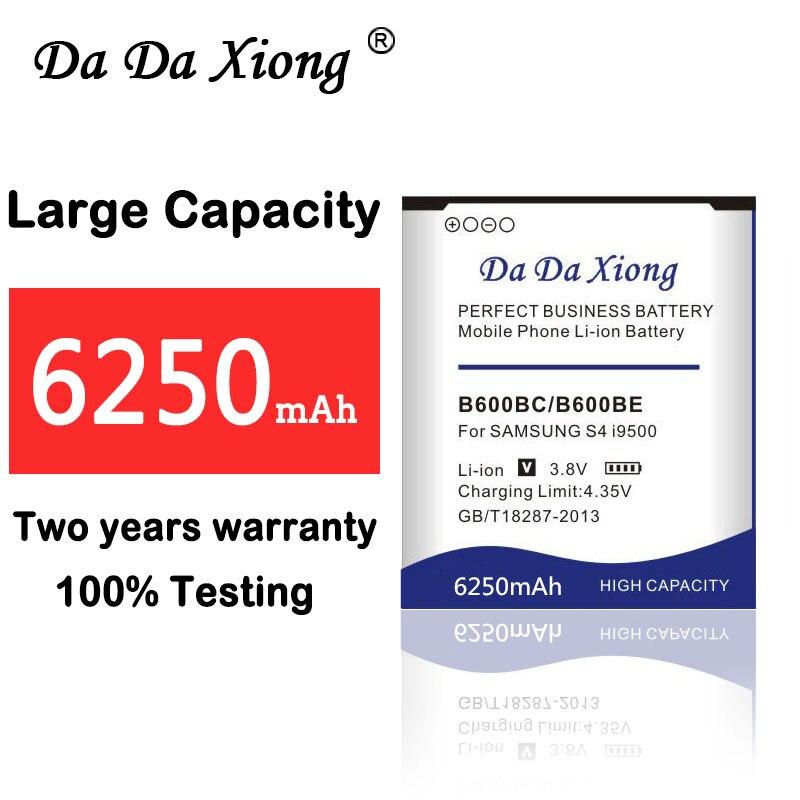 6250mAh Bateria para Samsung galaxy i9500 i9505 S4 B600BE B600BC I9506 I9507 i9515 i9502 i9508 i959 i337 S4 Ativo i9295 Grand 2