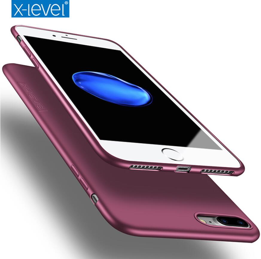 X-Level Silicone TPU Case For IPhone 7 8 Plus X XS XR Ultra Thin 360 Protective Back