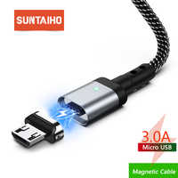 Suntaiho Magnetic Micro USB Cable 3A Fast Charging Cable For Xiaomi Redmi Note Huawei HTC for Samsung S7 Edge S6 Magnet Charging
