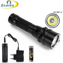 3000 Lumen 12W XML L2 LED Diving Flashlight 80M Underwater L