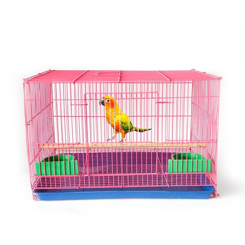 Cage à oiseaux décorative en métal Starling Pigeon perroquet causeuse Cage à oiseaux universelle groupe Cage grand espace facile à nettoyer rose