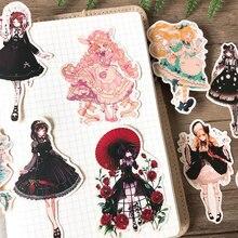 Платье Лолита и Алиса настольная наклейка s украшение стикер для канцелярских товаров Diy Ablum дневник в стиле Скрапбукинг этикетка наклейка Kawaii
