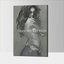 Figurative Art Oil Painting 100% hand painted nude sey Woman On Canvas Wall For Living Room Home Decor Sexy model Pictures