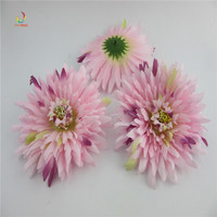 100PCS High Quality Artificial Silk Flowers Head For Home Wedding Party Decoration Wreath Scrapbooking Fake Dark
