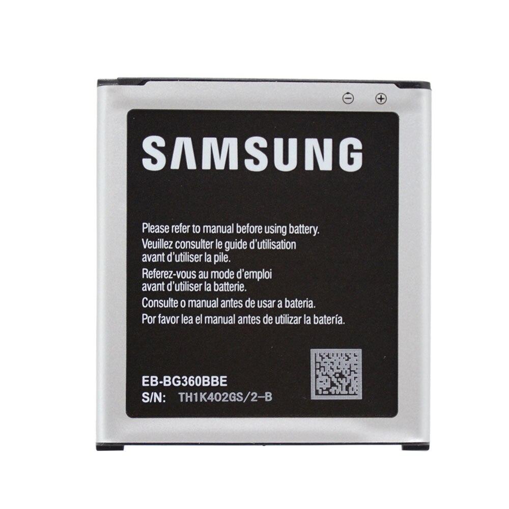 Original batería de repuesto para la batería de Samsung Galaxy ganar 2 Duos TV EB-BG360BBE Core Prime G361 G3608 G360BT 2000 mAh Akku rápido nave