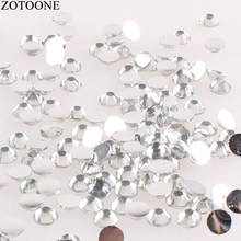 ZOTOONE Resin Rhinestone Top Applique Glue On Cheap Flat Back Rhinestones For Clothes Shoes DIY Stones And Crystals Decorations(China)